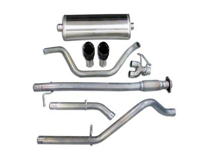 Corsa 3 in. Sport Dual Exhaust System w/ Black Tips - Rear Exit (07-09 6.0L Sierra 1500, Excluding Hybrid)