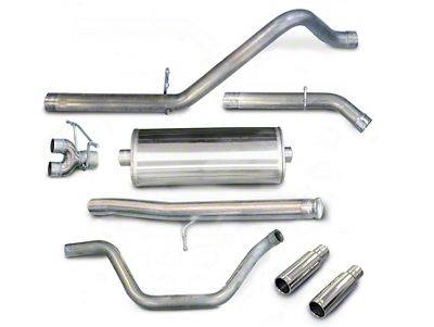 dB Performance by Corsa 3 in. Sport Dual Exhaust System w/ Polished Tips - Rear Exit (10-13 6.0L Hybrid Sierra 1500)