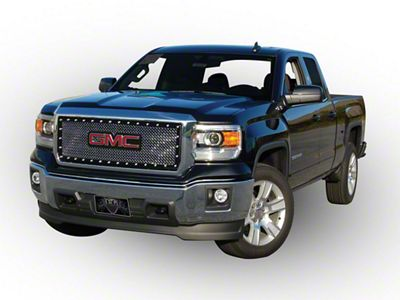 E&G Heavy Mesh Upper Overlay Grille - Chrome (14-15 Sierra 1500 w/o All-Terrain Package)