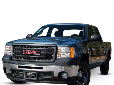 E&G E-Power Series Heavy Mesh Upper Overlay Grille - Black (14-15 Sierra 1500 w/o All-Terrain Package)