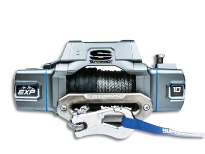 Superwinch EXP Series 10,000 lb. Winch w/ Synthetic Rope & Center Mount Solenoid Box