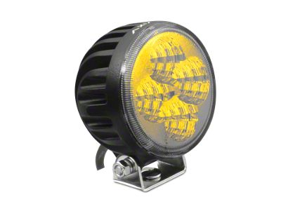 Axial 3 in. 4-LED Yellow Beam Round Light - Flood Beam
