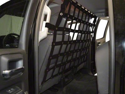 Dirty Dog 4x4 Pet Divider - Black (07-18 Sierra 1500 Extended/Double Cab, Crew Cab)