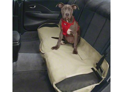 Kurgo Shorty Rear Bench Seat Cover - Hampton Sand (07-18 Sierra 1500 Extended/Double Cab, Crew Cab)