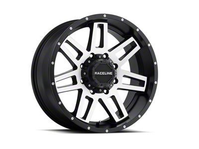 Raceline Injector Black Machined 6-Lug Wheel - 17x8.5 (07-18 Sierra 1500)