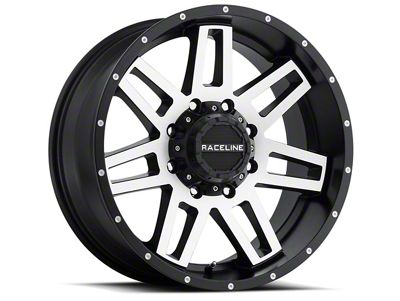 Raceline Injector Black Machined 6-Lug Wheel - 20x12 (07-18 Sierra 1500)