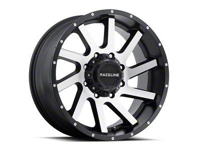 Raceline Twist Black Machined 6-Lug Wheel - 20x12 (07-18 Sierra 1500)