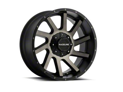 Raceline Twist Black Machined w/ Dark Tint 6-Lug Wheel - 20x12 (07-18 Sierra 1500)