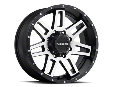Raceline Injector Black Machined 6-Lug Wheel - 17x9 (07-18 Sierra 1500)