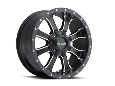 Raceline Mamba Black Milled 6-Lug Wheel -17x9 (07-18 Sierra 1500)