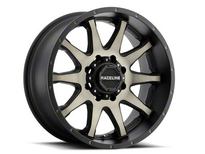 Raceline Shift Black Machined w/ Dark Tint 6-Lug Wheel - 17x9 (07-18 Sierra 1500)