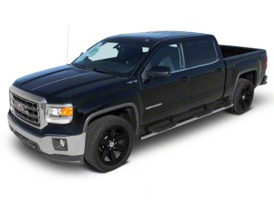 Raptor Series 4 in. Oval Wheel to Wheel Rocker Mount Side Step Bars - Black (14-18 Sierra 1500 Double Cab, Crew Cab)