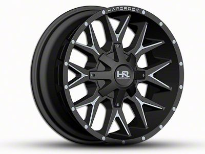 Hardrock Offroad H700 AFFLICTION Black Milled 6-Lug Wheel - 20x9 (07-18 Sierra 1500)