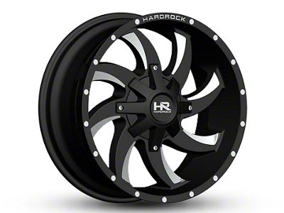 Hardrock Offroad H701 DEVIOUS Black Milled 6-Lug Wheel - 20x9 (07-18 Sierra 1500)