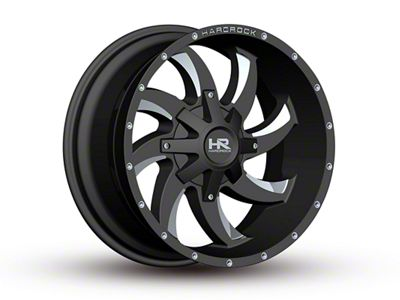 Hardrock Offroad H700 AFFLICTION Black Milled 6-Lug Wheel - 20x10 (07-18 Sierra 1500)