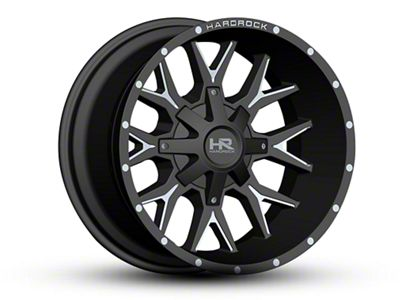 Hardrock Offroad H700 AFFLICTION Black Milled 6-Lug Wheel - 22x10 (07-18 Sierra 1500)