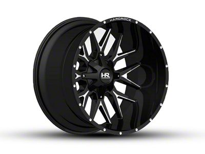 Hardrock Offroad H700 AFFLICTION Black Milled 6-Lug Wheel - 24x14 (07-18 Sierra 1500)