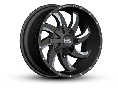 Hardrock Offroad H701 DEVIOUS Black Milled 6-Lug Wheel - 20x10 (07-18 Sierra 1500)