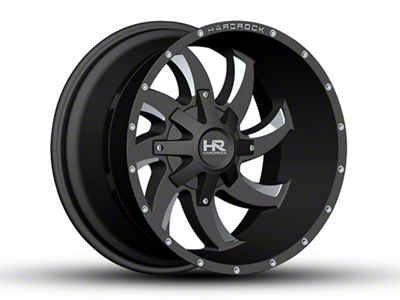 Hardrock Offroad H701 DEVIOUS Black Milled 6-Lug Wheel - 20x12 (07-18 Sierra 1500)