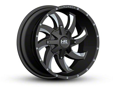 Hardrock Offroad H701 DEVIOUS Black Milled 6-Lug Wheel - 22x10 (07-18 Sierra 1500)