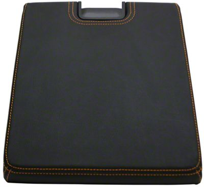 Alterum Center Console Top Lid - Black w/ Gold Stitching (07-13 Sierra 1500 w/ Bench Seat)