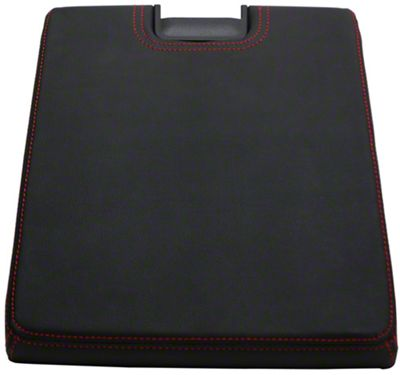 Alterum Center Console Top Lid - Black w/ Red Stitching (07-13 Sierra 1500 w/ Bench Seat)