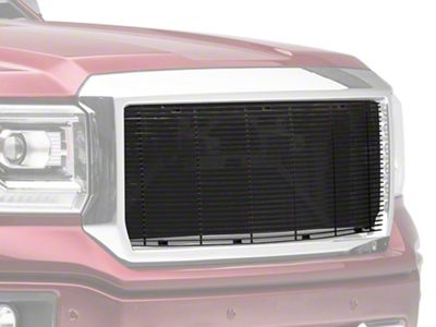 Modern Billet Billet Upper Replacement Grille - Black (14-15 Sierra 1500)