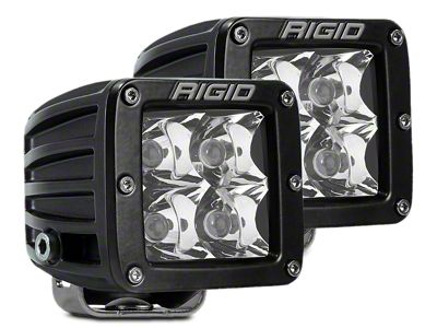 Rigid Industries D-Series LED Cube Lights - Fog Beam - Pair
