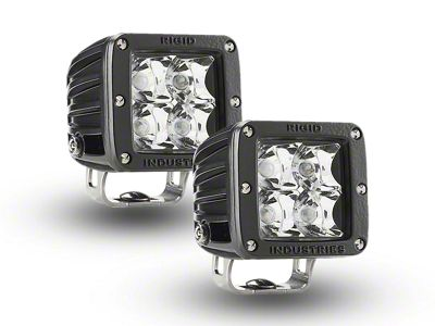 Rigid Industries E-Mark Dually LED Cube Lights - Spot Beam - Pair