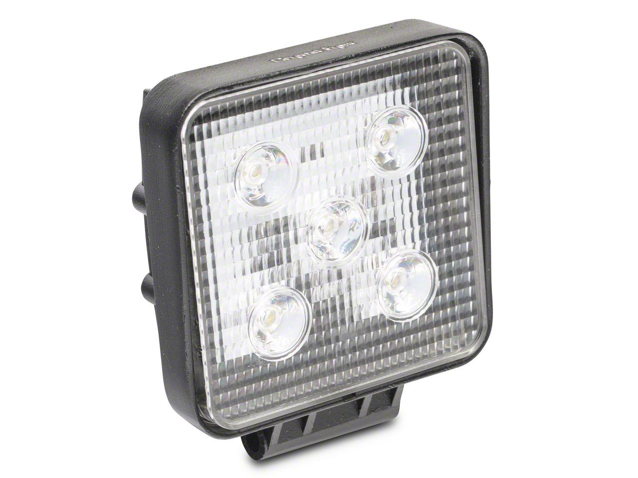 Alteon 4 in. Work Visor LED Cube Light - 60 Degree Flood Beam