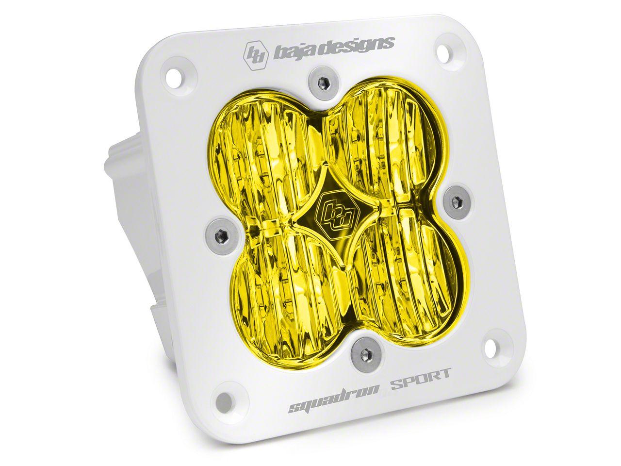 Baja Designs Squadron Sport Amber/White Flush Mount LED Light - Wide Cornering Beam
