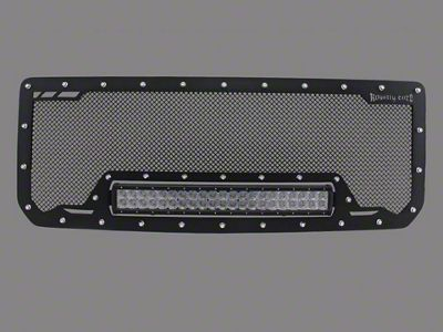 Royalty Core RCRX Race Line Upper Replacement Grille w/ 23 in. LED Light Bar - Satin Black (14-15 Sierra 1500)