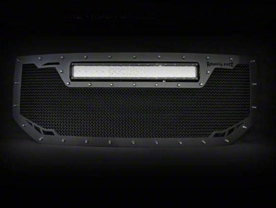 Royalty Core RCRX Race Line Upper Replacement Grille w/ Top Mounted 23 in. LED Light Bar - Black (16-18 Sierra 1500)