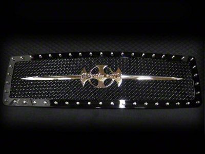 Royalty Core RC1 Upper Replacement Grille w/ Chrome Sword Assembly - Black (07-13 Sierra 1500)