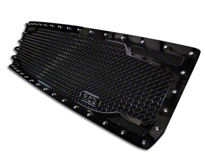 Royalty Core RC2 Twin Mesh Upper Replacement Grille - Black (07-13 Sierra 1500)