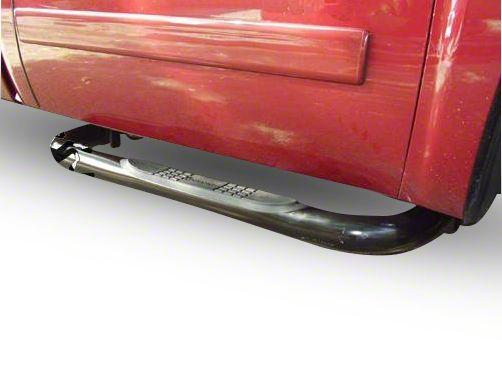 Black Horse Off Road 3 in. Round Side Step Bars - Stainless Steel (14-18 Sierra 1500)