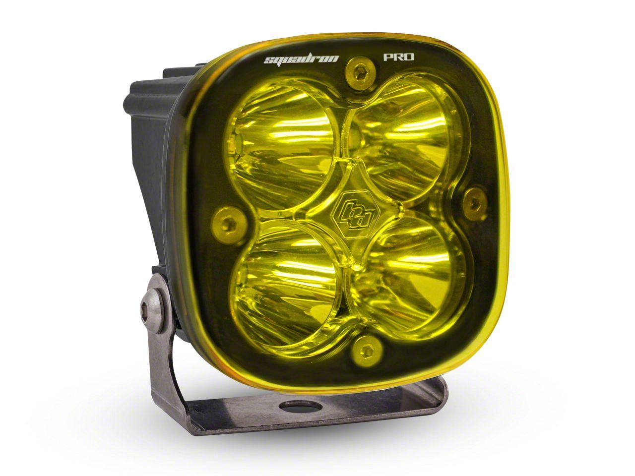 Baja Designs Squadron Pro Amber LED Light - Work/Flood Beam