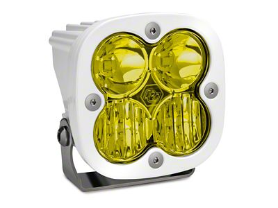 Baja Designs Squadron Pro White Amber LED Light - Driving/Combo Beam - Pair