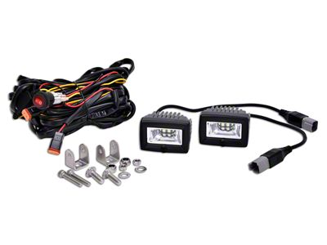 KC HiLiTES C-Series C2 Backup Flood Lights - Pair (07-19 Sierra 1500)