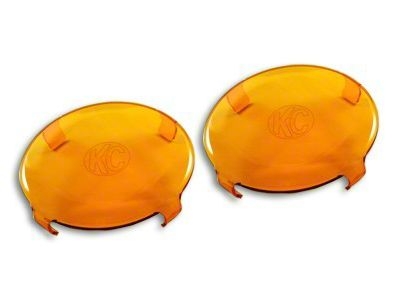 KC HiLiTES 6 in. Round Light Cover - Amber (07-18 Sierra 1500)