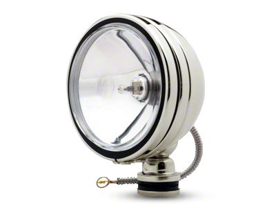 KC HiLiTES 6 in. Stainless Steel Daylighter Round Halogen Lights - Spot Beam