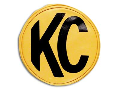KC HiLiTES 8 in. Soft Vinyl Cover for Round Lights - Yellow (07-18 Sierra 1500)
