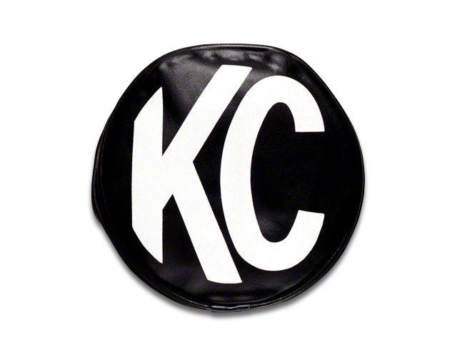 KC HiLiTES 8 in. Soft Vinyl Cover for Round Lights - Black (07-18 Sierra 1500)