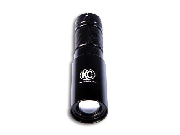 KC HiLiTES Adjustable 3W LED Flashlight - Black