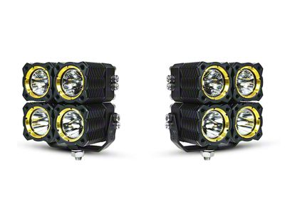KC HiLiTES Flex Quad LED Light - 20W Combo Beam - Pair