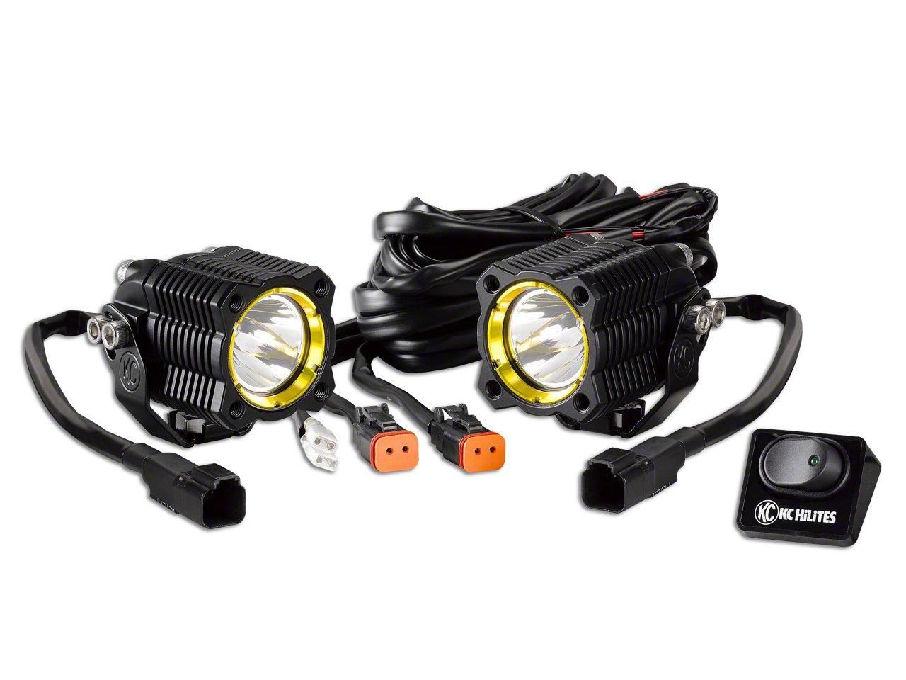 KC HiLiTES Flex Single LED Light - 10W Spot Beam - Pair