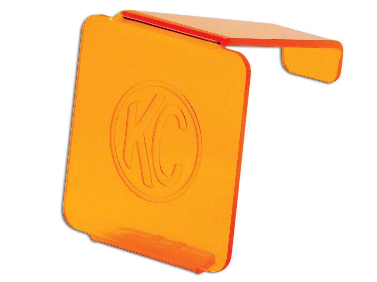KC HiLiTES Hard Cover for 3 in. C3 Cube Light - Orange (07-18 Sierra 1500)
