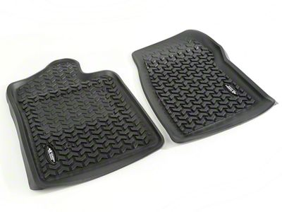 Rugged Ridge All-Terrain Front Floor Liners - Black (07-13 Sierra 1500)