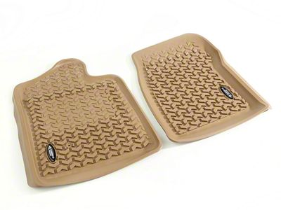 Rugged Ridge All-Terrain Front Floor Liners - Tan (07-13 Sierra 1500)