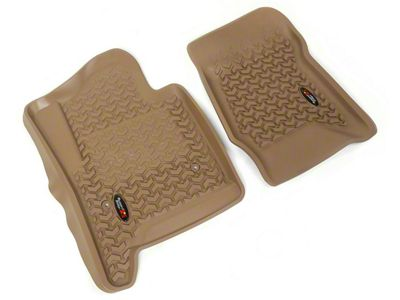 Rugged Ridge All-Terrain Front Floor Liners - Tan (14-18 Sierra 1500)